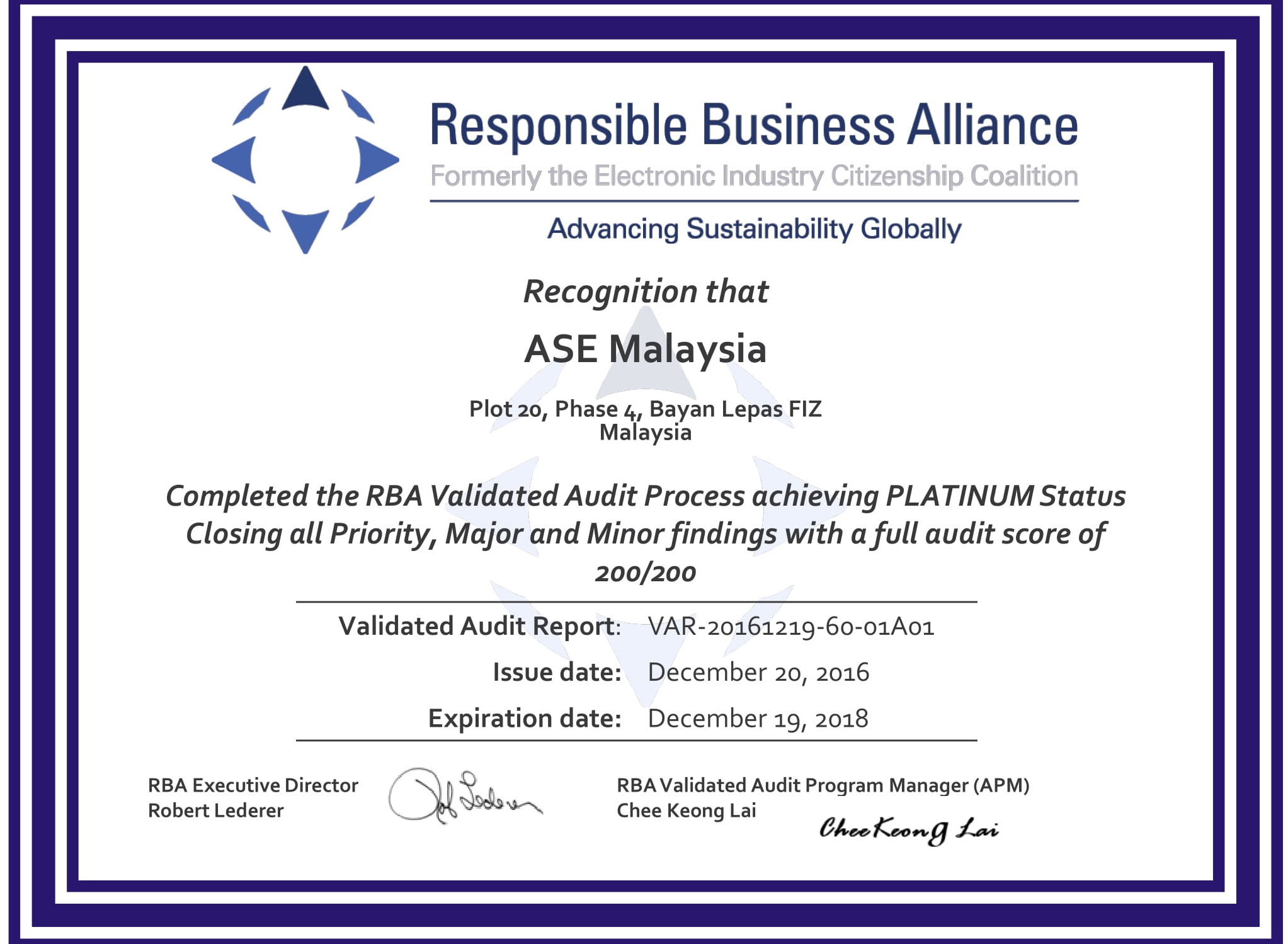 Responsible Business Alliance